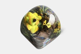 Miracle Island Artisan Dom Keycap - Chobanim - Golden Stream