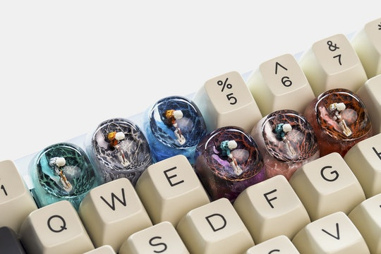 Dwarf Factory Moondust Artisan Keycap