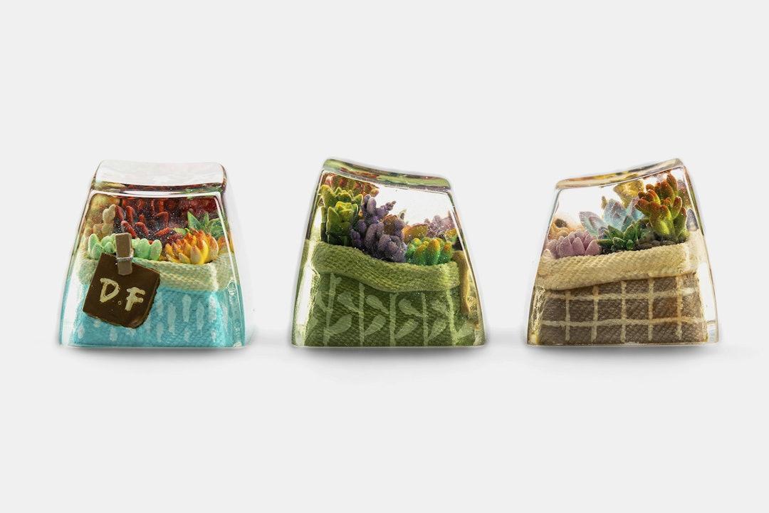 Dwarf Factory Terrarium Resin Artisan Keycap
