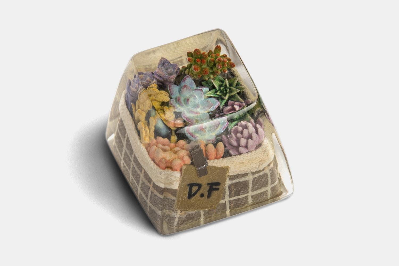 Dwarf Factory Terrarium Resin Artisan Keycap - Rainless Garden - SA R1