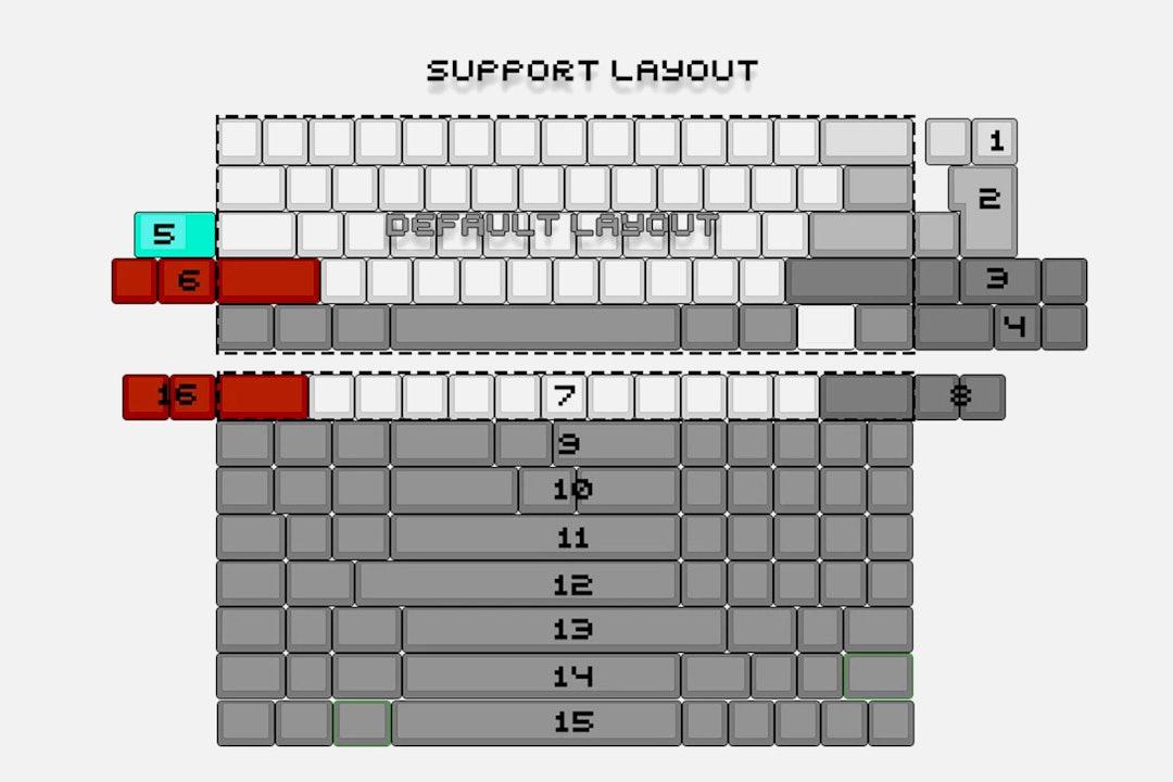 DZ60 USB Type-C 60% PCB (Rev 3.0)
