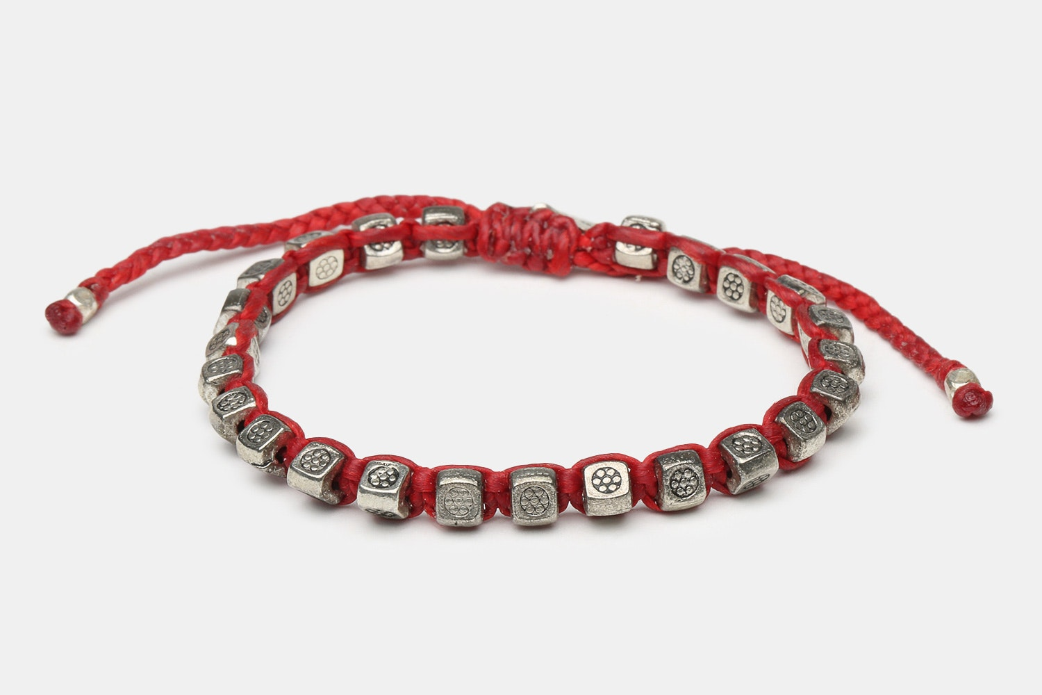 Thai Silver Beads - Red