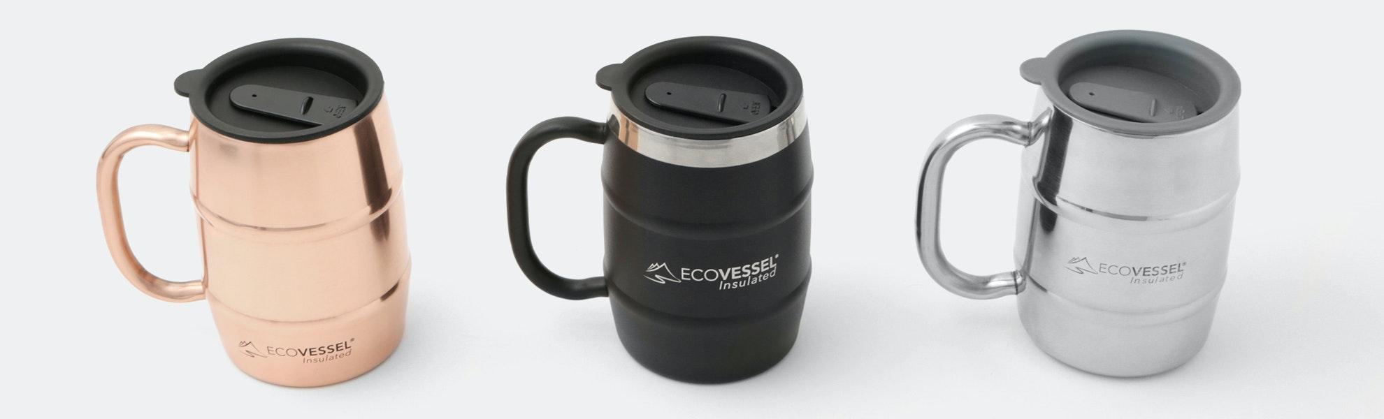 EcoVessel Double Barrel 16 oz Mug (2-Pack)