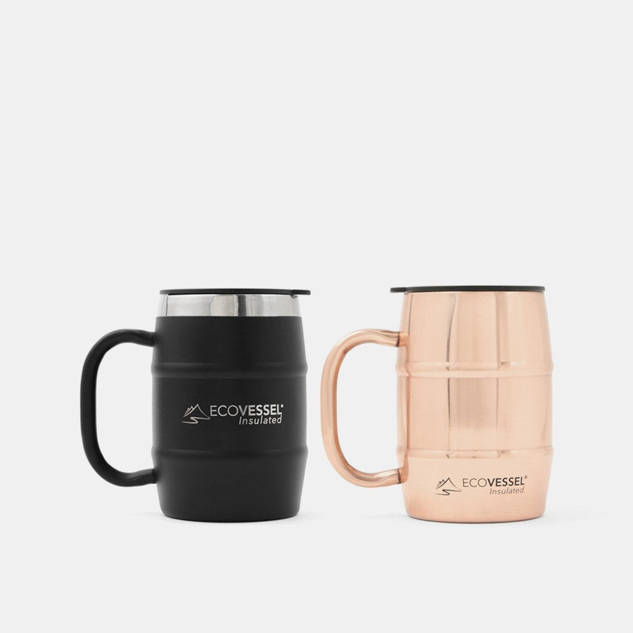 EcoVessel Double Barrel 16 oz Mug (2-Pack)