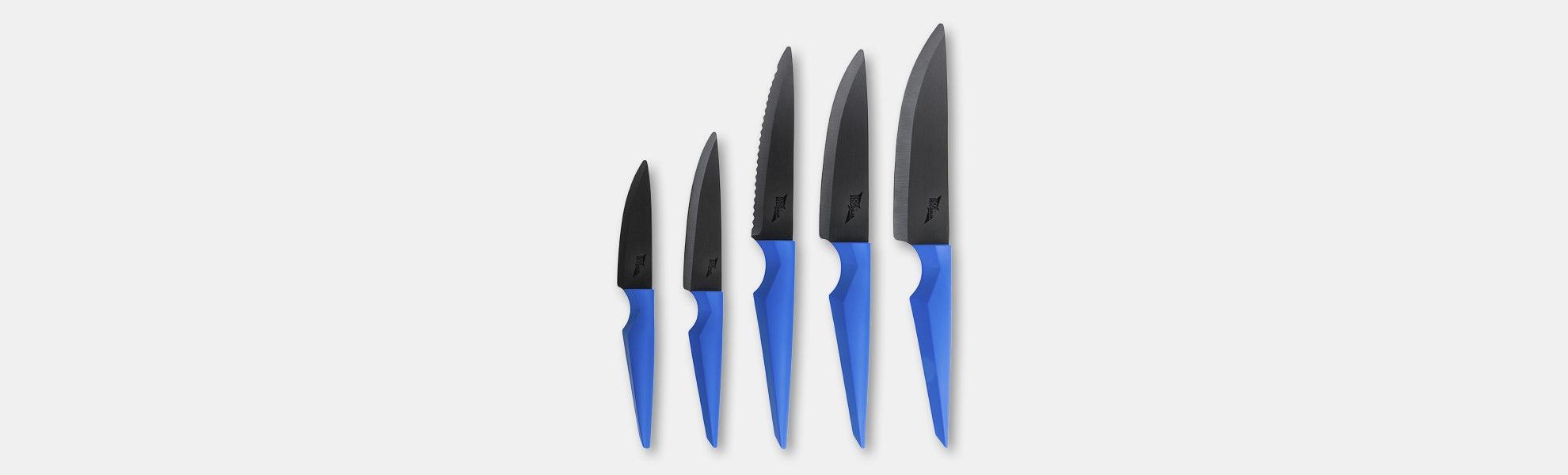 Edge of Belgravia Primal Electric Blue Knife Set