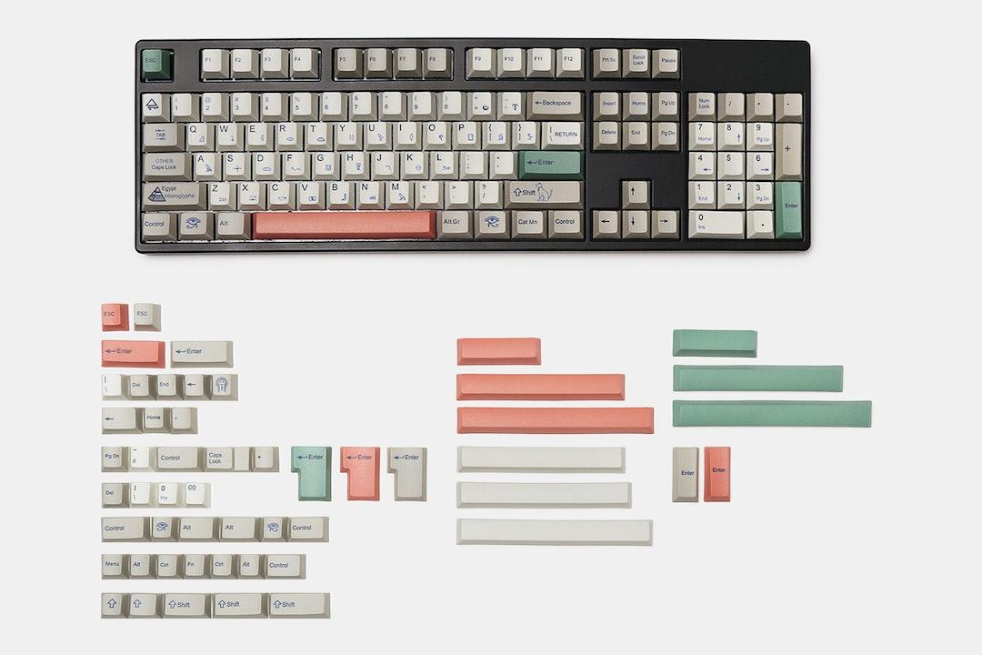 Egyptian PBT Dye-Subbed Keycap Set (169 Keys)