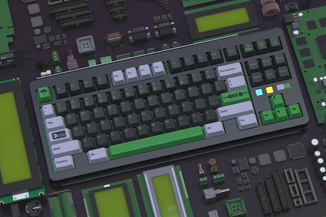 Geekark PBT Dye-Subbed Electronic Keycap Set