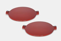 "Set of two 10"" Pizza Stones – Burgundy"