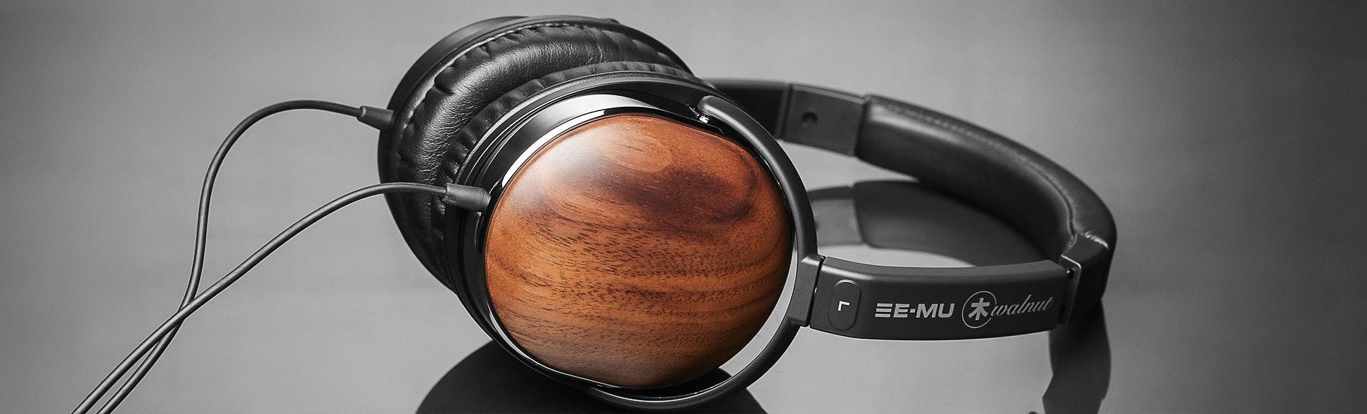 EMU Walnut Lightweight Headphones