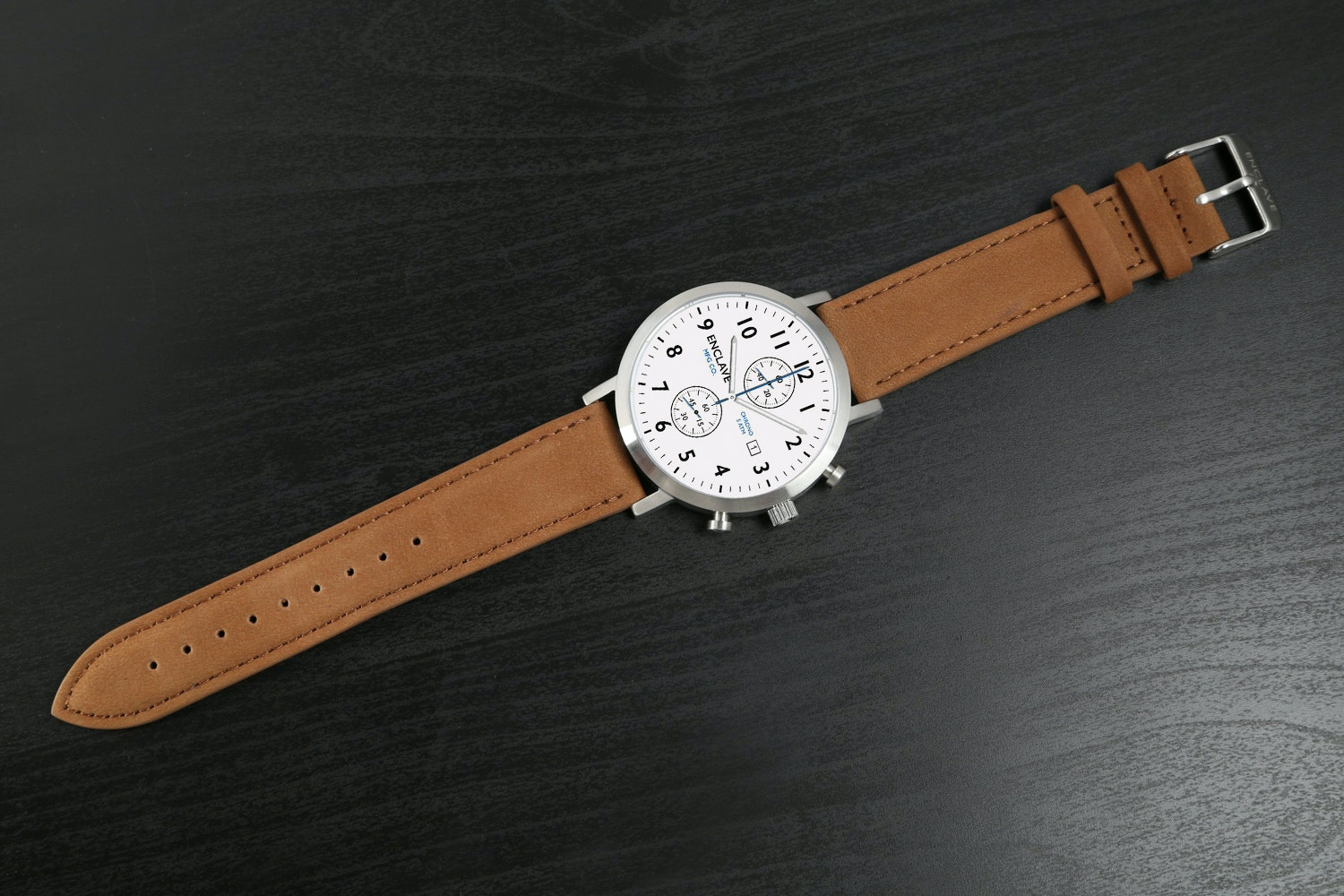 Ivory Dial with Brown Suede Strap