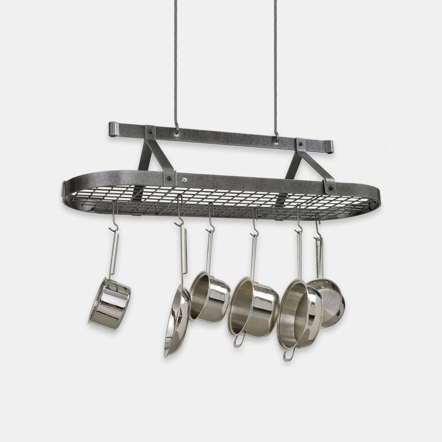 Enclume Hammered Steel Oval 4ft Pot Rack