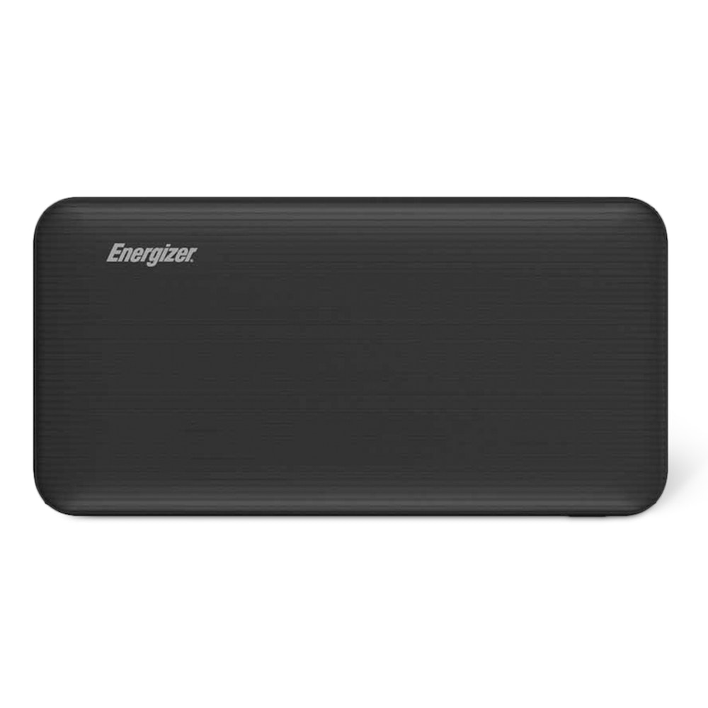 Energizer UE10034 10,000mAh Power Bank Multi-Device Charging -- Keep your devices powered up on road trips, plane rides, and out in the wild with the Energizer UE10034 10,000mAh power bank. Capable of charging multiple devices simultaneously, it has two Type-A ports and a micro USB input. Both of the USB Type-A ports feature 2.1A fast-charging technology, which lets you charge devices faster than standard power banks. The 10,000mAh battery is large enough to charge a standard smartphone up to four times. To ensure it won't malfunction, the power bank has short-circuit and overcharge protection software.