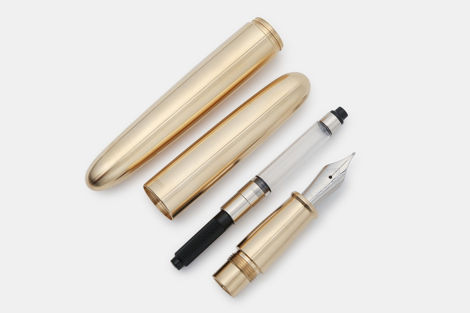 Ensso PIUMA Brass Fountain Pen