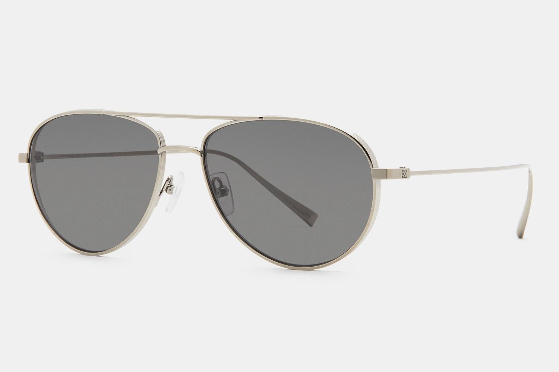 0072 Titanium Sunglass - Shiny Dark Ruthenium - Dark Gray Lens/Polarized