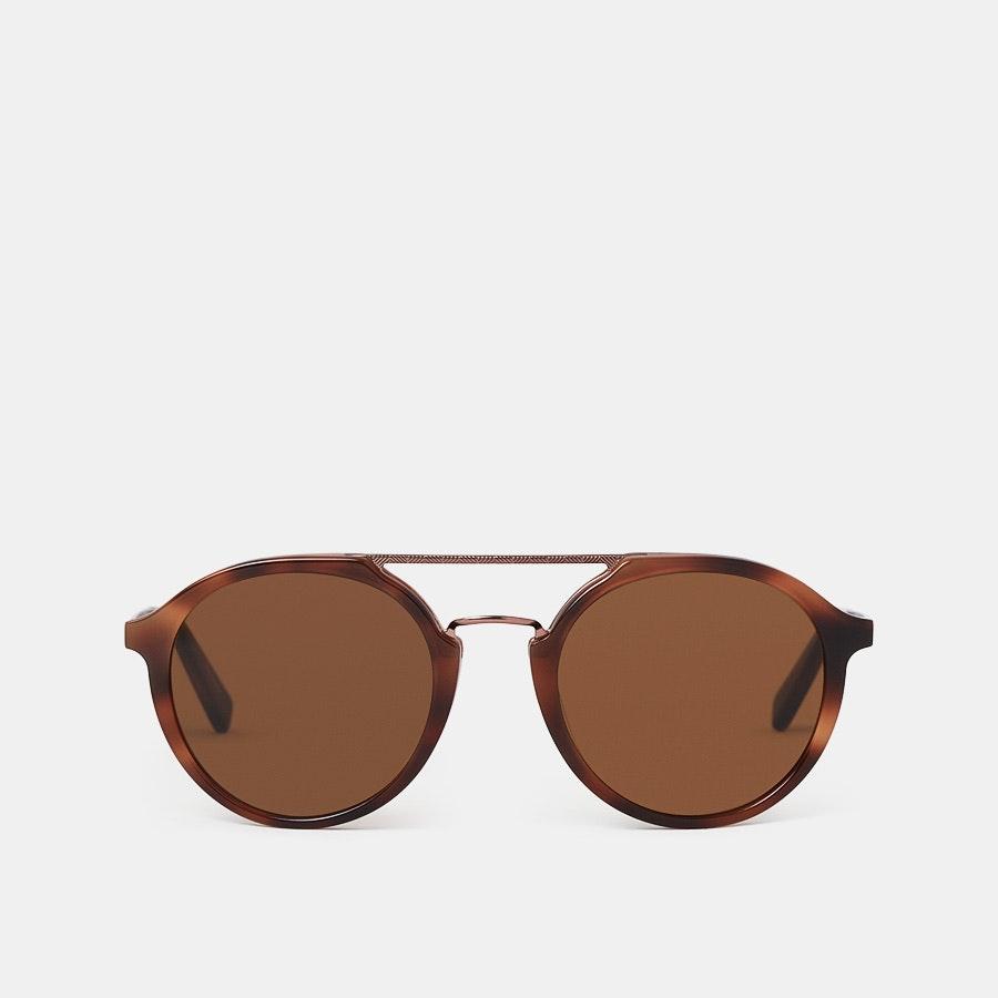 Ermenegildo Zegna EZ0070 Round Aviator Sunglasses