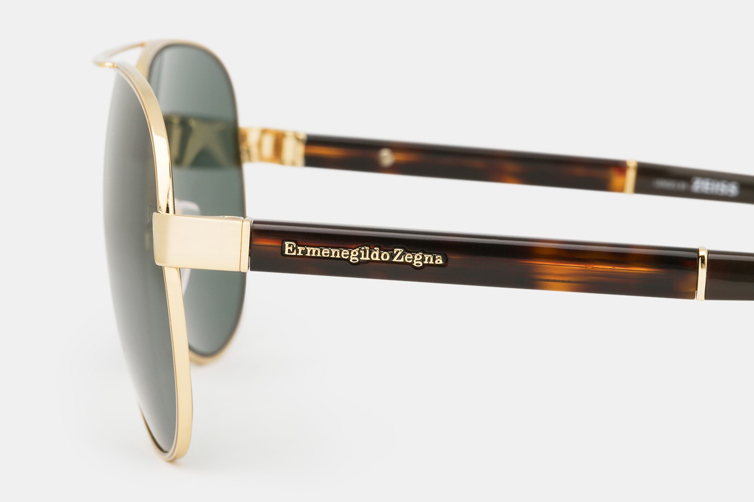 Ermenegildo Zegna Polarized Aviator Sunglasses