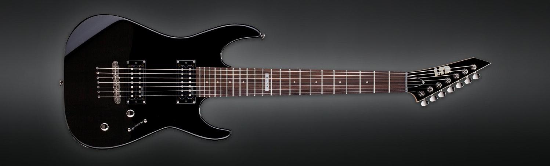 ESP B Stock Guitar LTD M-17 Black 7 String
