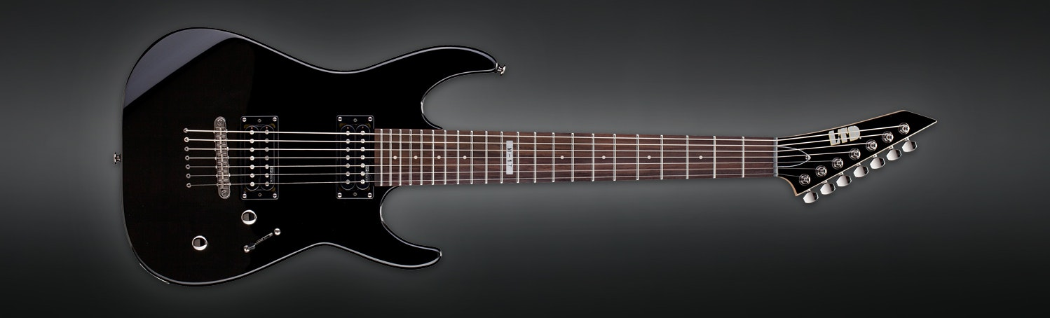 ESP B Stock Guitar LTD M-17 Black 7 String