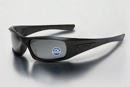 Black w/ Polarized Mirrored Gray Lenses
