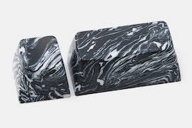 Black With White Marble-Style Swirl