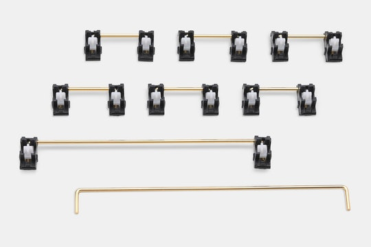 Everglide Panda Gold-Plate Mounted Stabilizer Set