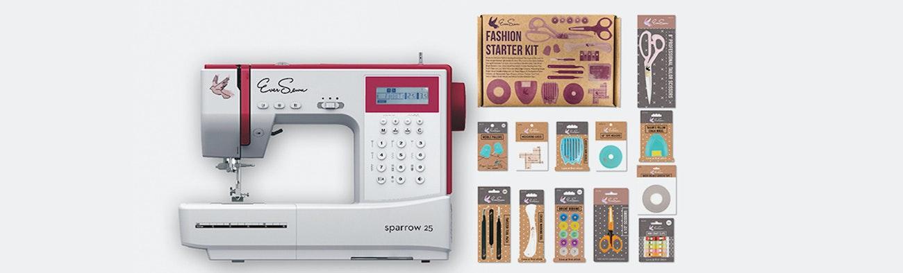 Eversewn 40 Bundle Price Reviews Massdrop Extraordinary Sewing Machine Starter Kit