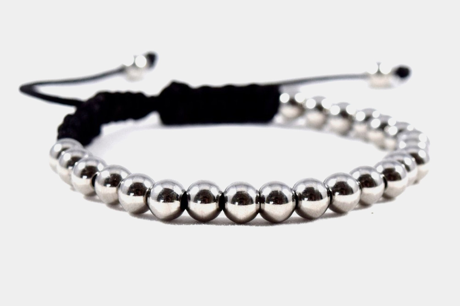Micro-Bead Macrame Rope - Control Silver - Stainless Steel & Rope (+ $6)