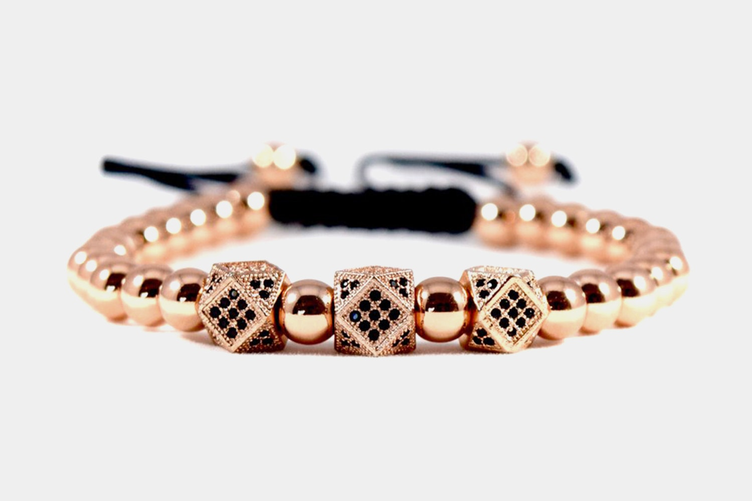 Premium Macrame Rope - Dominance // Rose Gold - Stainless Steel & Rope (+ $16)
