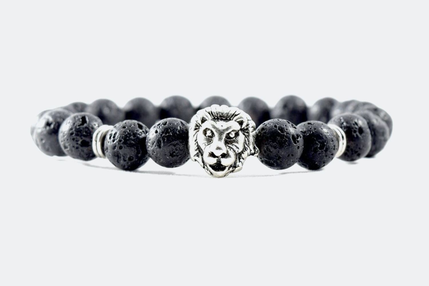 Silver Alloy Beaded – Silver Lion Lava