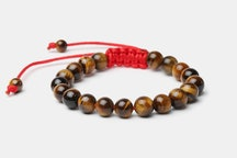 Brown Tigers Eye with Red Cord
