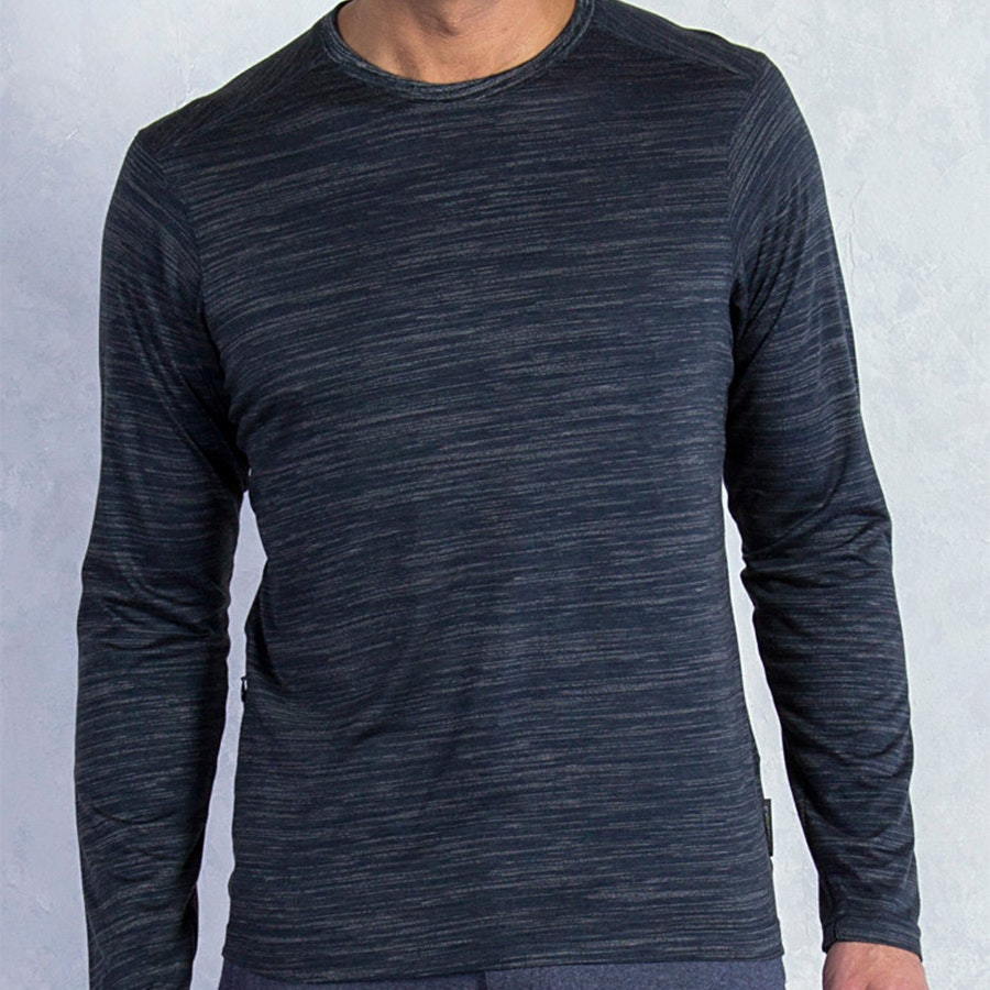 Mens Termo Crew, Black Heather