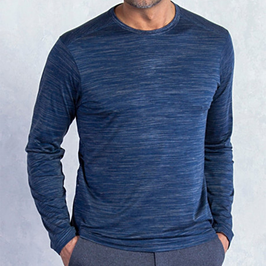 Mens Termo Crew, Navy Heather
