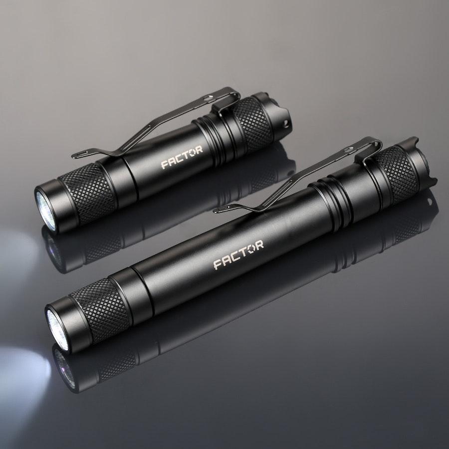 Factor Equipment Mizpah 160 & 300 AA Flashlights