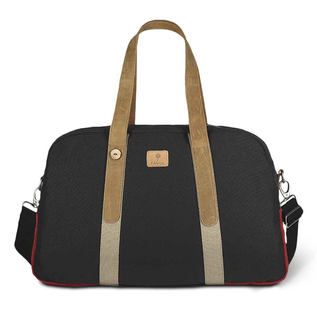 Faguo Cotton & Nylon Weekend Travel Bag