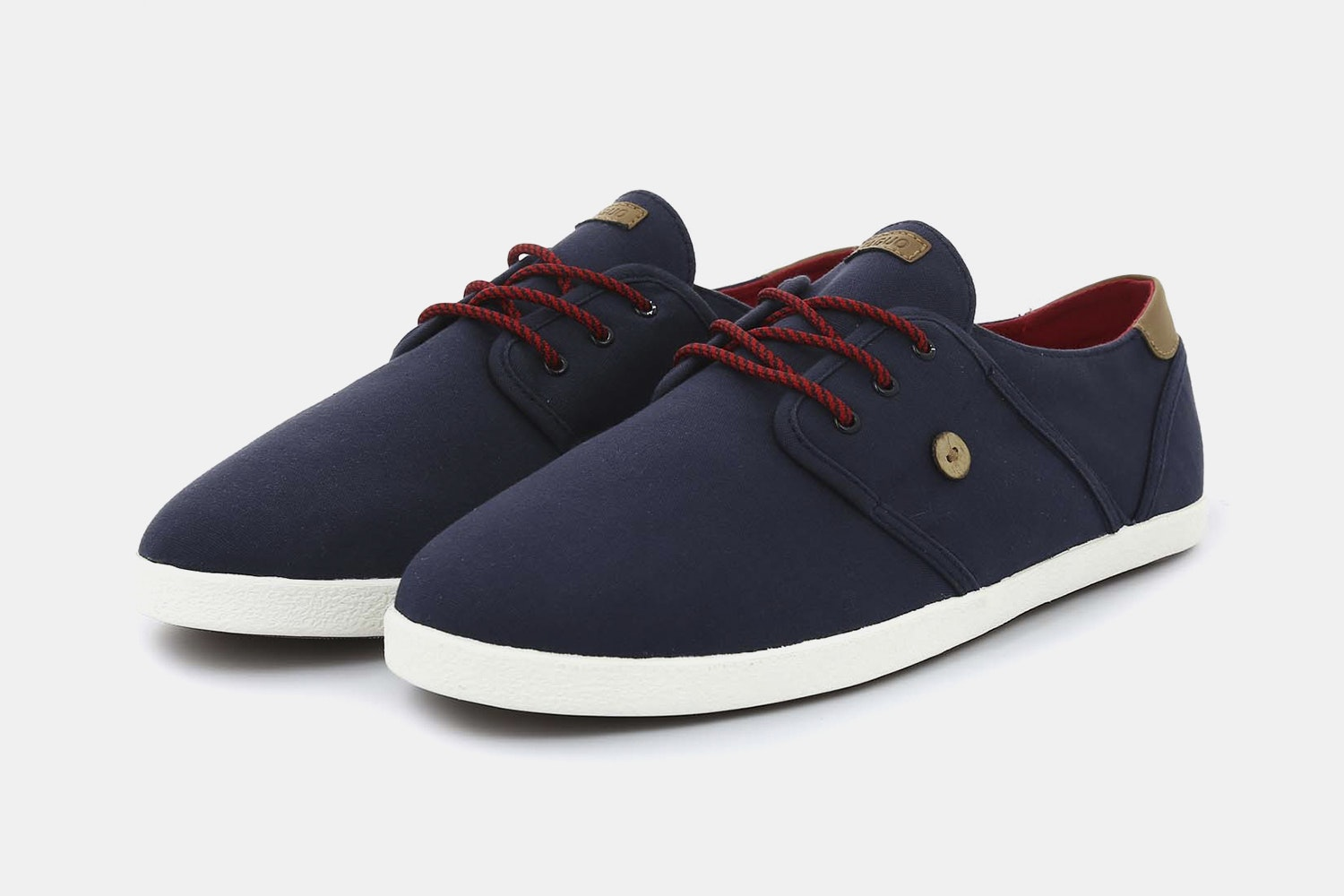 Navy With Red Laces