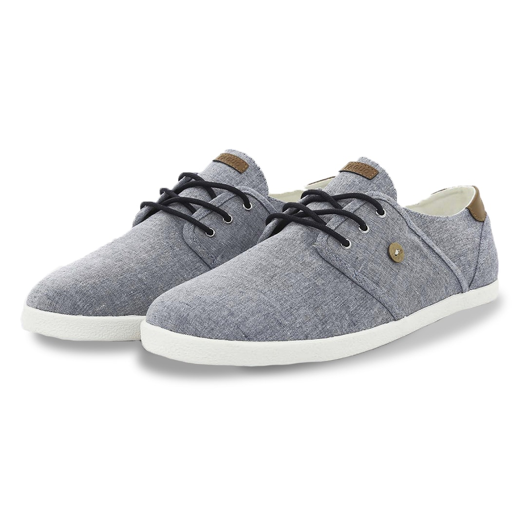 Faguo Cypress Cotton & Leather Sneakers