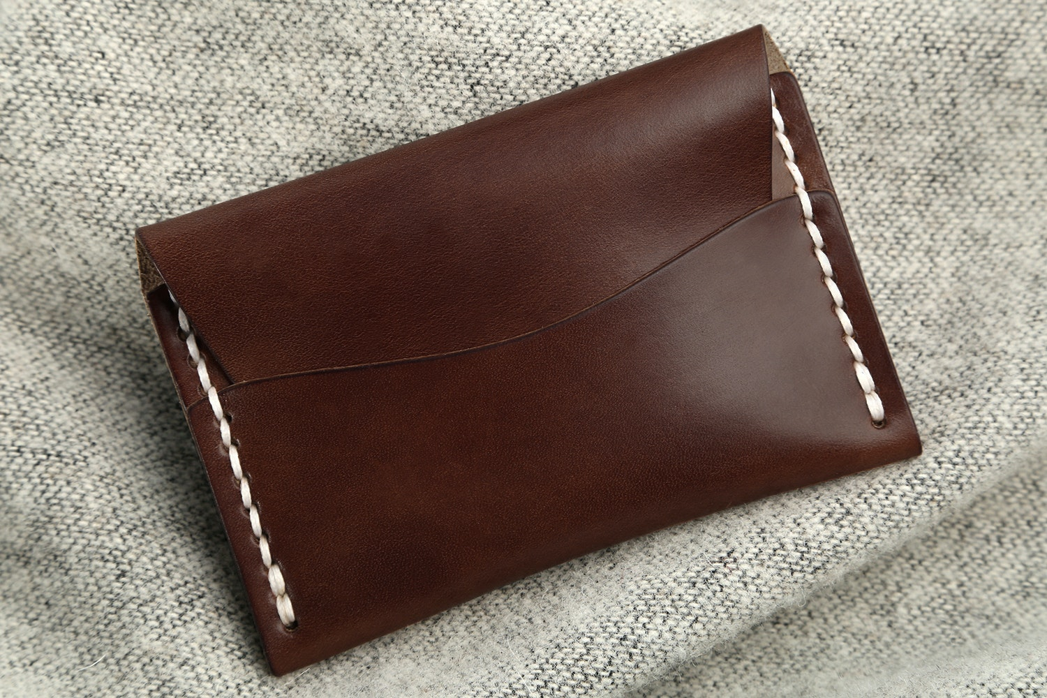 Dark Chestnut Horween Latigo  (from Horween Leather Company)