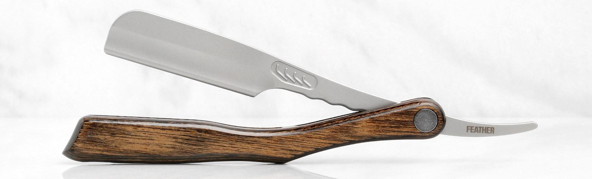 Feather Wood Artist Club Shaving Razor