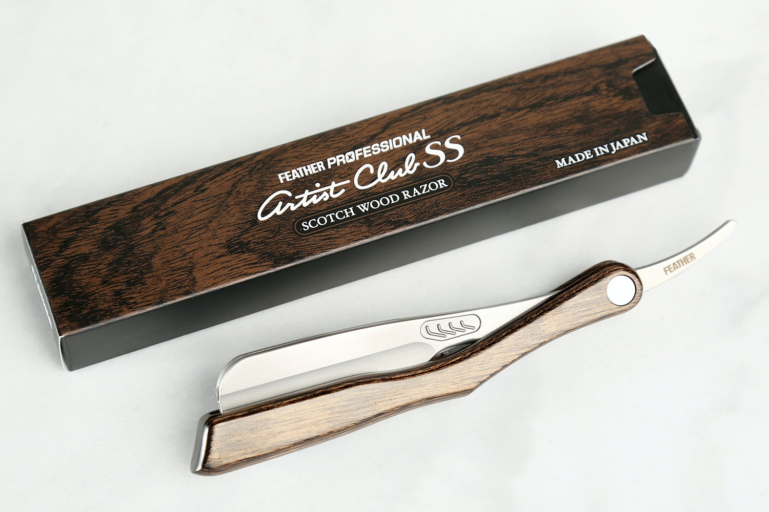 Feather Wood Artist Club Shaving Razor