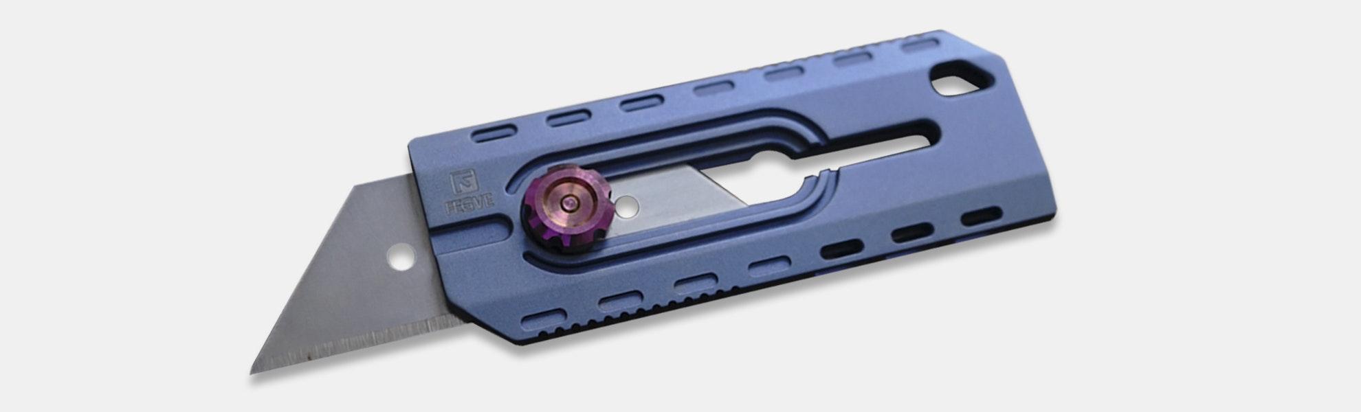 FEGVE Titanium Retracting Utility Knife