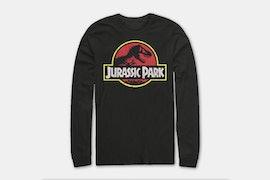 Jurassic Park Long Sleeve Tee - Black  (+ $5)