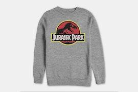 Jurassic Park Crew Fleece - Athletic Heather (+ $8)