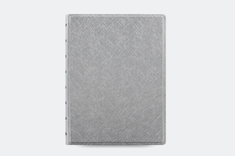 Saffiano Metallic A5 Notebook - Silver
