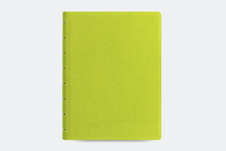 Saffiano A5 Notebook - Pear