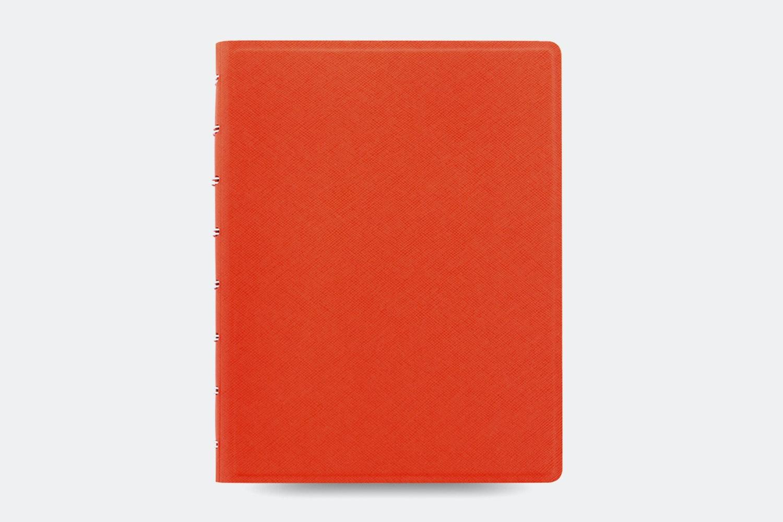 Saffiano A5 Notebook - Bright Orange
