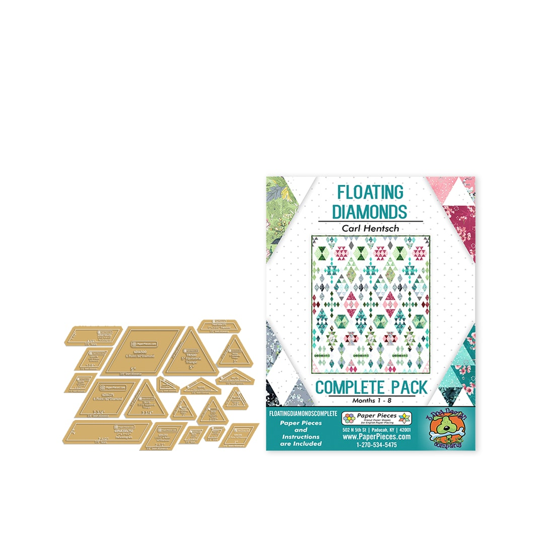 Floating Diamonds Paper-Piece Bundle