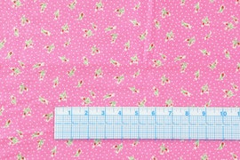 Floral Pink With white dots