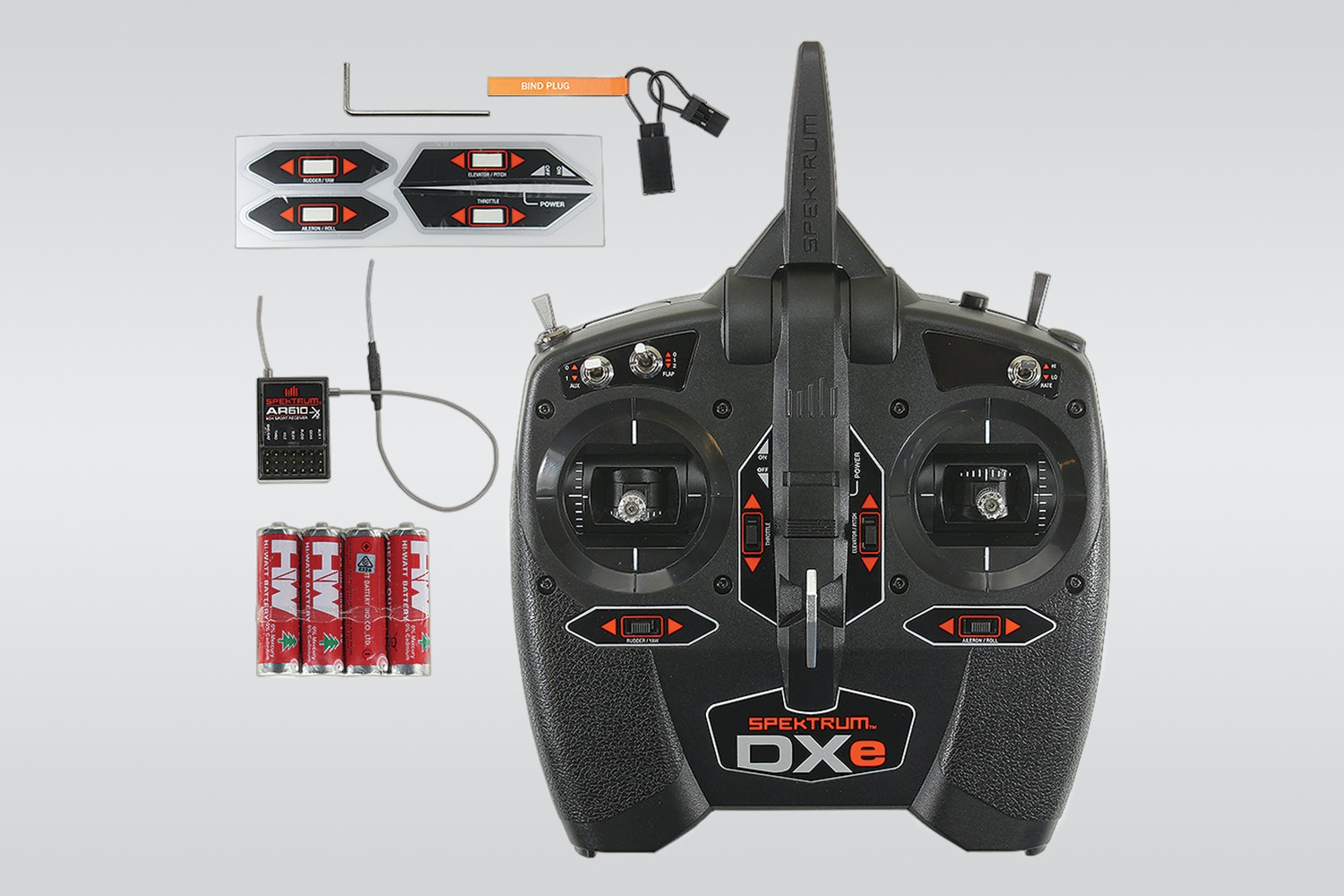 Spektrum DXE 6-channel radio with an AR610 receiver (+ $85)