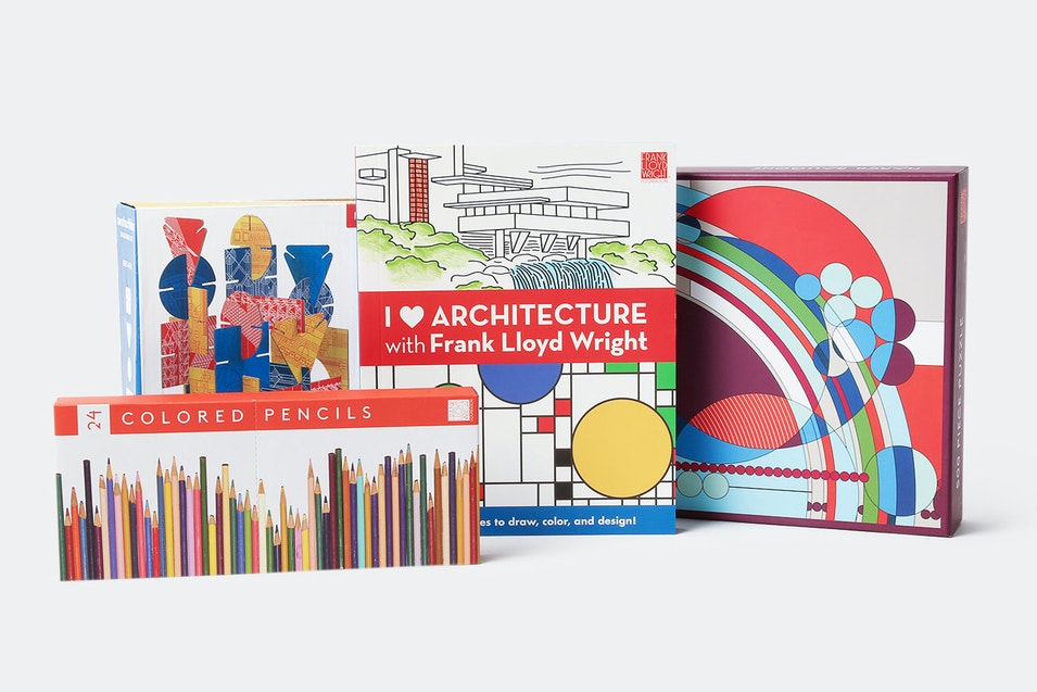 Frank Lloyd Wright Coloring Book & Puzzles Bundle   Price & Reviews ...