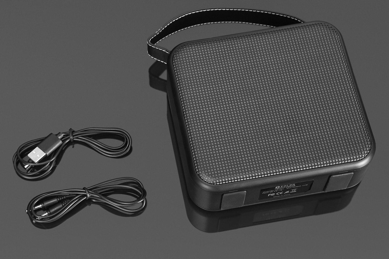 FRESHeCOLOR Portable Bluetooth Speaker w/ LEDs